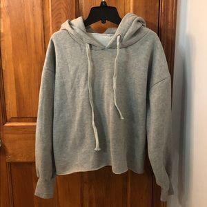 Women's Light Gray Hooded Sweatshirt